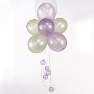 Helium filled latex balloons