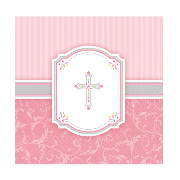 Blessings Pink Luncheon Napkins (16)