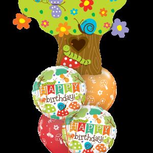 Birthday enchanted tree bouquet at London Helium Balloons
