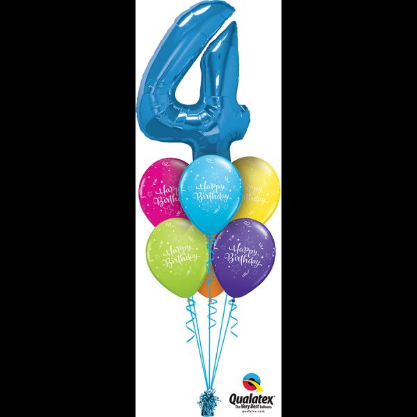 Birthday Aged Luxury Bouquet Helium Filled Foil Balloon