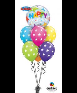 Birthday Stars Bouquet at London Helium Balloons