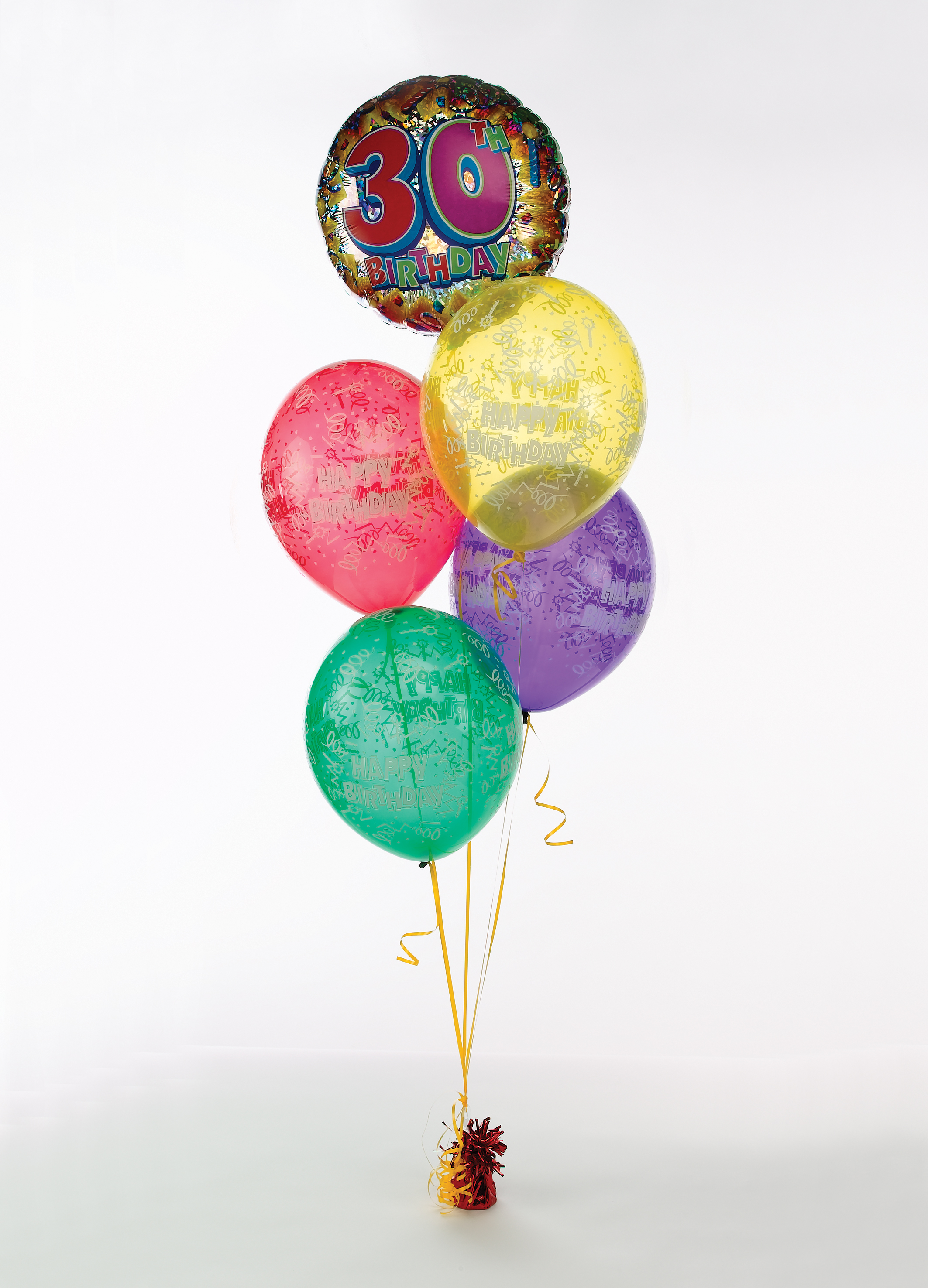 Birthday Balloon Bouquet Helium Filled Foil Balloon