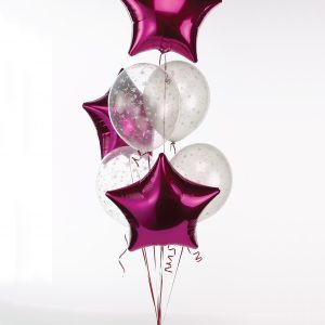 7 Balloon foil latex mix bouquet at London Helium Balloons