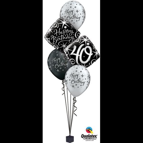 Black/silver elegant Milestone Bouquet at London Helium Balloons