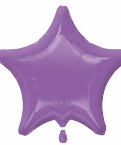 Personalised photo printed Lilac  Foil Star Balloon