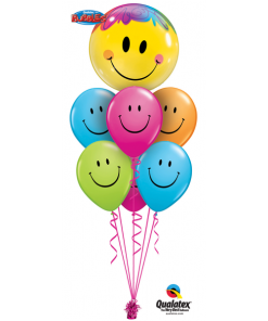 Smiley luxury bouquet at London Helium Balloons
