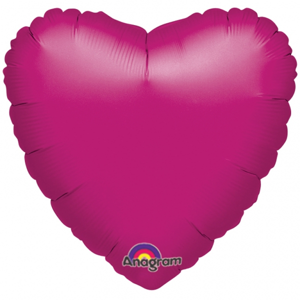 Personalised photo printed Hot pink Foil heart Balloon