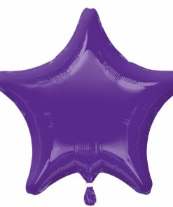 Personalised photo printed Purple Foil Star Balloon