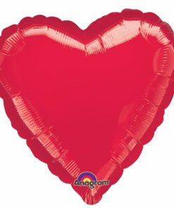 Personalised photo printed Ruby Red Foil Heart Balloon
