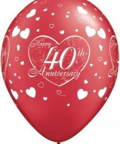"10 4oth Anniversary Helium Filled 11""latex Party Party Balloons"