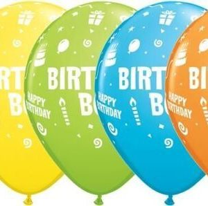 "10 Birthday Boy Helium Filled 11""latex Party Party Balloons"