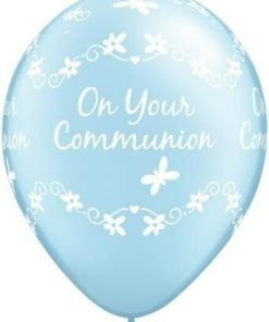 "10 Communion Blue Helium Filled 11""latex Party Party Balloons"