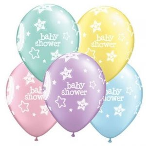 "10 Baby Shower Moons Helium Filled 11""latex Party Party Balloons"