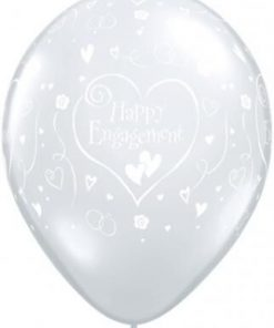 "10 Engagement Hearts Helium Filled 11""latex Party Party Balloons"