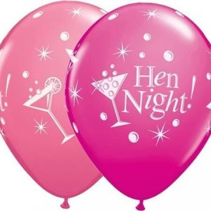 "10 Hen Night bubbly Helium Filled 11""latex Party Party Balloons"