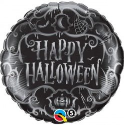 goth scroll halloween Helium Filled foil Balloon