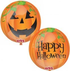 pumpkin orbz Helium Filled Foil Balloon