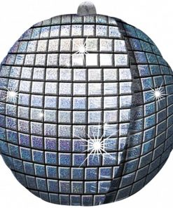 Disco Ball helium filled foil balloon
