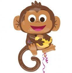 Happy Monkey helium filled foil balloon