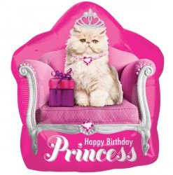 Kitten Princess helium filled foil balloon