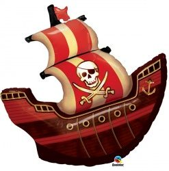 Pirate Ship helium filled foil balloon