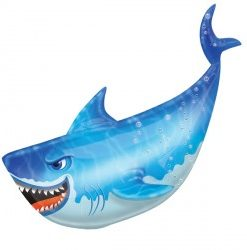 Shark helium filled foil balloon