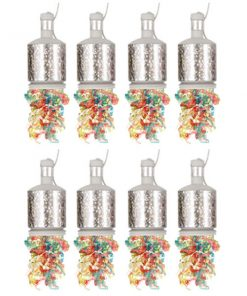 20 Pack Silver Party Poppers