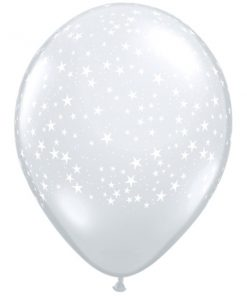 "10 Stars a round clear 11"" Latex Balloons"