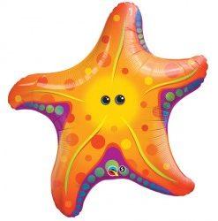 Sea Starfish helium filled foil balloon