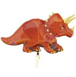 Triceratops helium filled foil balloon