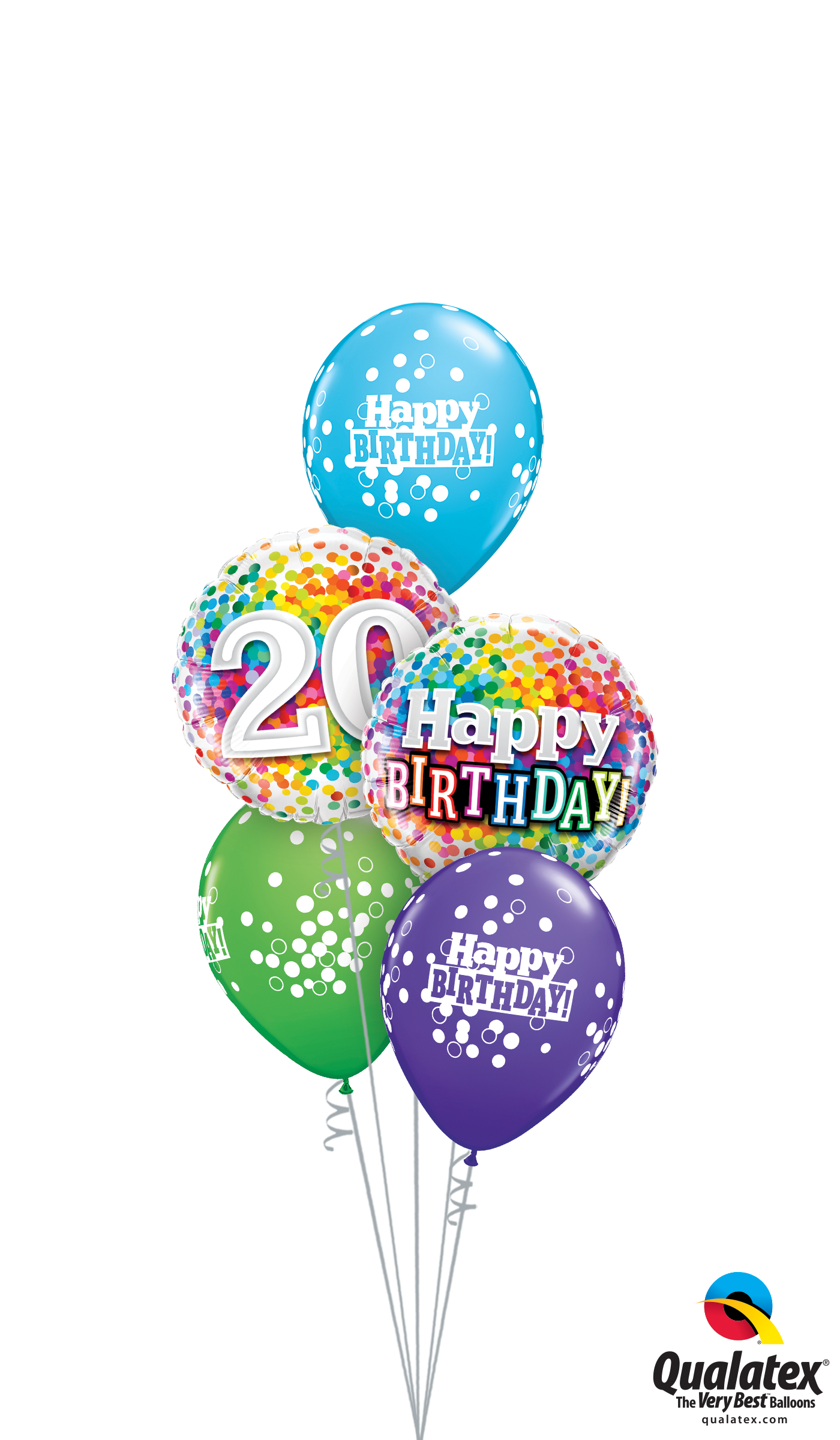 Get Birthday Confetti Dots Helium Balloons Delivered To Your Choice Of Venue