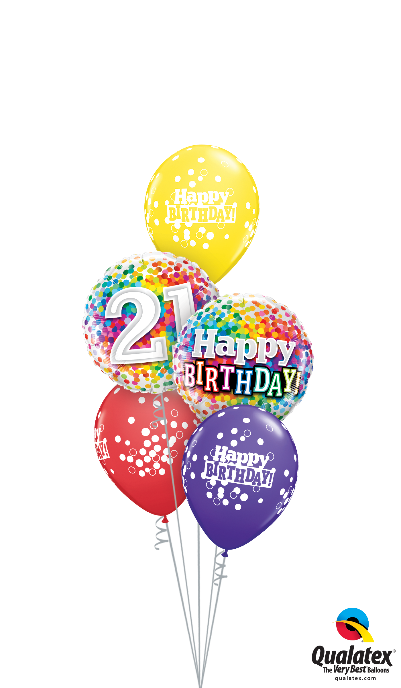 21st Bday Confetti Dots Classic At London Helium Balloons