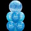 Birthday Blue Bubble luxury at London Helium Balloons