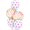 Birthday Pink & Gold Dots Classic at London Helium Balloons