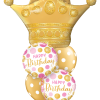 Birthday Golden Crown at London Helium Balloons