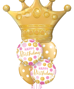 Birthday Golden Crown at London Helium Balloons