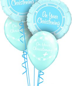 Christening Boy at London Helium Balloons