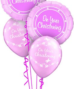 Christening Girl at London Helium Balloons