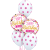Happy Birthday Pink & Gold at London Helium Balloons