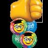 Grad Thumbs up at London Helium Balloons