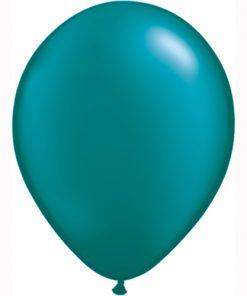 "10 Treated Pearlised Teal Blue 11"" Helium Filled latex Balloons"