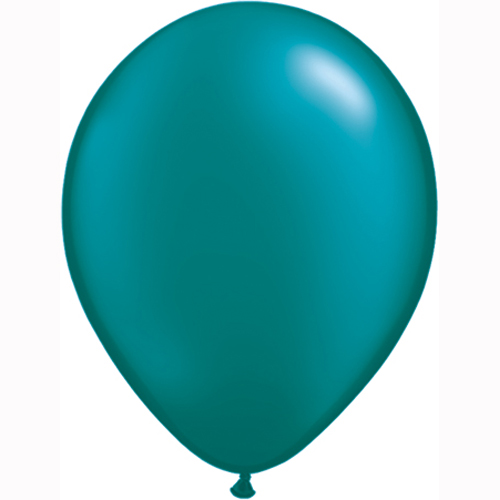 "10 Treated Pearlised Teal Blue 11"" Helium Filled latex Balloons"