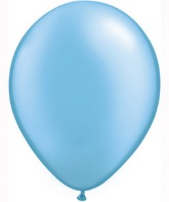 "10 Treated Pearl azure Blue 11"" Helium Filled latex Balloons"