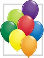"10 Treated Fashion Carnival Assorted 11"" Helium Filled Party Balloons"