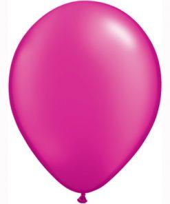 """10 Treated Radiant Pearlised Magenta 11"""" Helium Filled latex Balloons"""