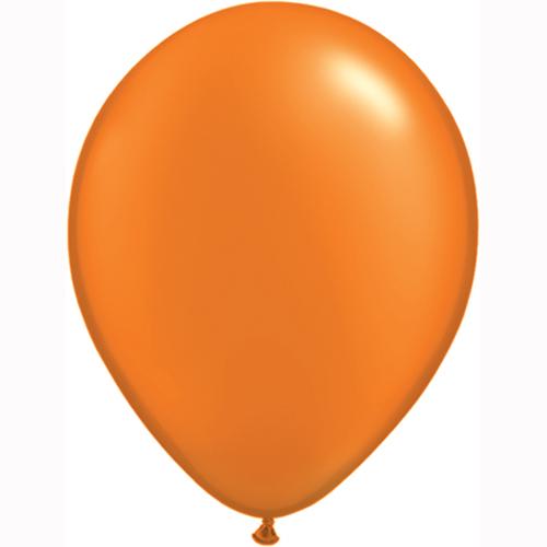 """10 Treated Radiant Pearl Mandarin Orange 11"""" Helium filled Latex Balloons"""