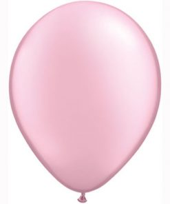 "10 Treated Pearlised Pink 11"" Helium Filled latex Balloons"