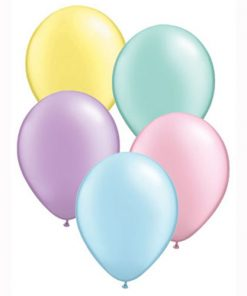 "11 Treated Pearl Pastel Assorted 11"" Helium Filled Latex Balloons"