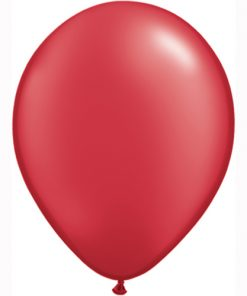 "10 Treated Pearlised red 11"" Helium Filled latex Balloons"