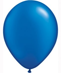 "10 Treated pearlised sapphire Blue 11"" Helium Filled latex Balloons"